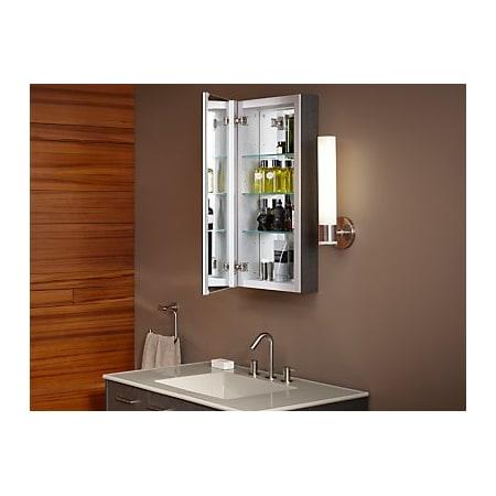 Kohler K 99000 Na N A Verdera 30 Quot X 15 Quot Single Door Frameless Medicine Cabinet With Triple