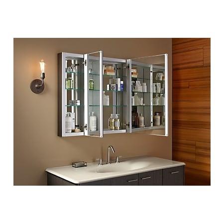 Kohler K 99010 Na N A Verdera 40 Quot W X 30 Quot H Triple Door Medicine Cabinet With Triple Mirror Design