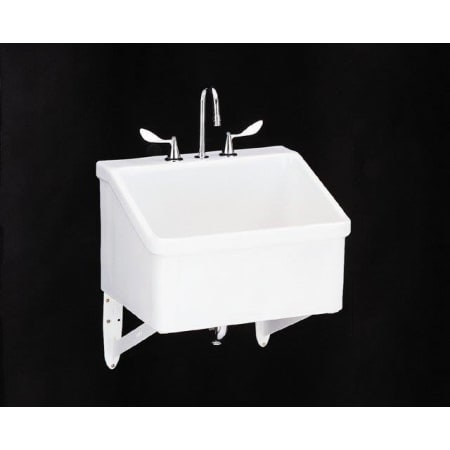 Kohler k 12794 0 white hollister utility sink with three for Hollister live chat