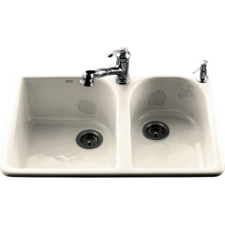 Kohler K-5922-2-47 Almond Fixture Kitchen Sink Cast Iron from the ...