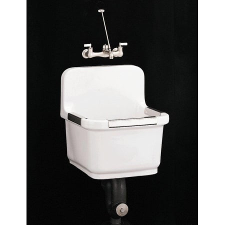 Kohler K 6652 0 White Sudbury 22 Inch Utility Sink With Blank Back