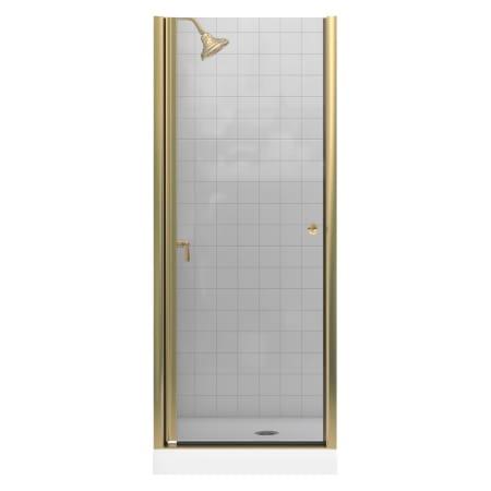 Kohler K 702400 L Bh Bright Brass Frameless Pivot Shower