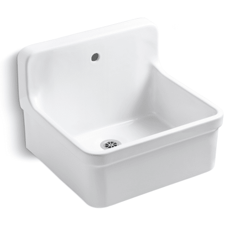 Kohler K 12784 0 White Gilford Scrub Up Plaster Sink With Single