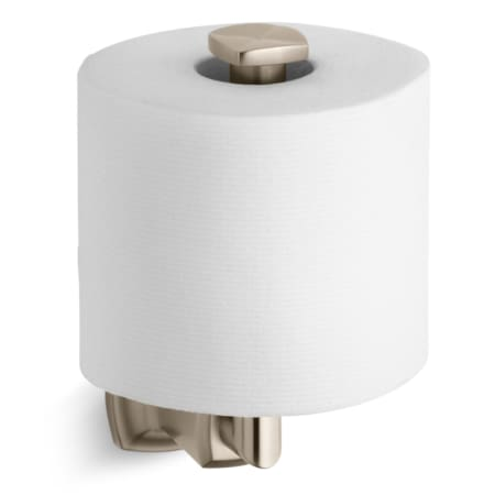 kohler k 16255 bv brushed bronze margaux single post vertical toilet paper holder. Black Bedroom Furniture Sets. Home Design Ideas