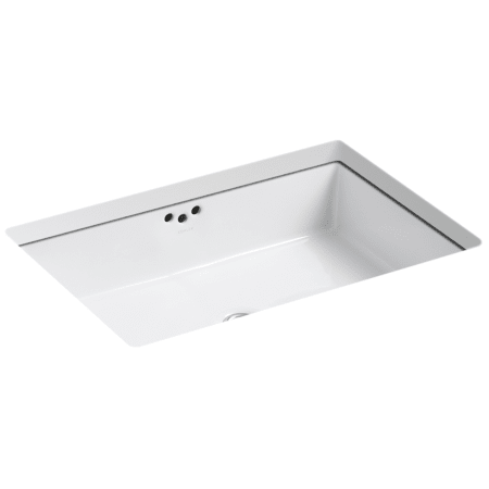 Kohler K 2297 0 White Kathryn 21 Undermount Bathroom Sink With Overflow