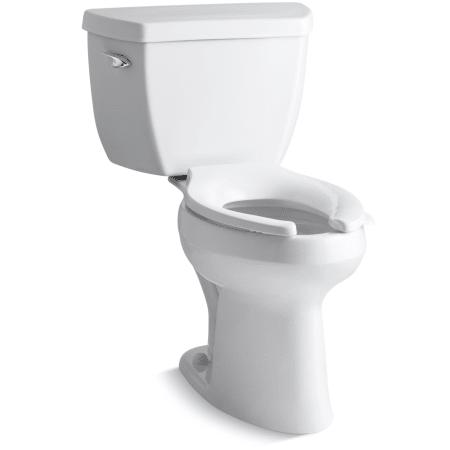 Kohler K 3493 0 White Highline Two Piece Elongated Toilet