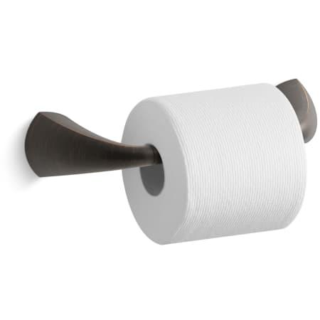 Kohler K 37054 2bz Oil Rubbed Bronze 2bz Alteo Double Post Toilet Paper Holder