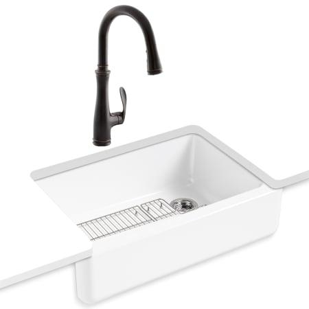 Kohler K 5827 K 560 2bz Oil Rubbed Bronze Faucet Whitehaven Kitchen