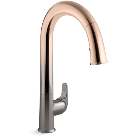 Kohler K 72218 3tr Vibrant Ombre Titanium Rose Gold Sensate Touchless Kitchen Faucet With 15 1 2 Pull Down Spout Docknetik Magnetic Docking System And A 2 Function Sprayhead Featuring Sweep Spray Faucet Com