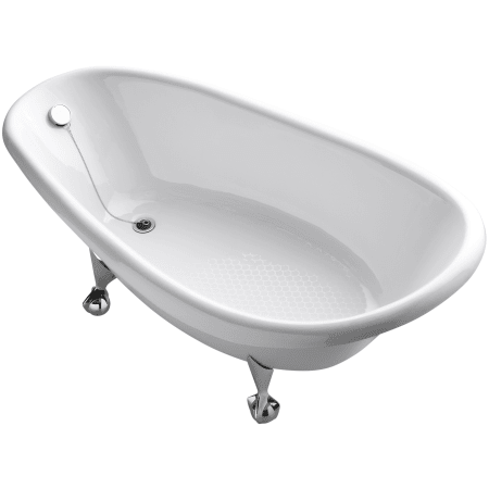 Kohler K 100 0 White Birthday Bath 72 Cast Iron Clawfoot Soaking