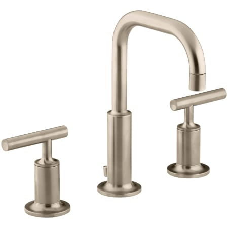 Kohler K 14406 4 Bv Brushed Bronze Purist Widespread Bathroom Faucet