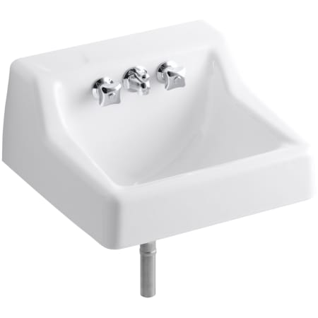 kohler wall mount bathroom sink kohler k 2705 47 almond hampton 14 quot cast iron wall mounted 23590