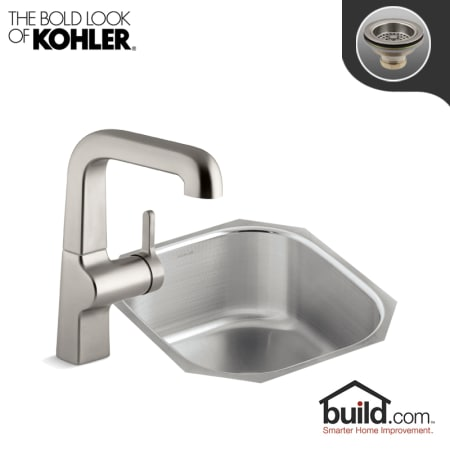 A Large Image Of The Kohler K 3336 6335 Vibrant Stainless Faucet