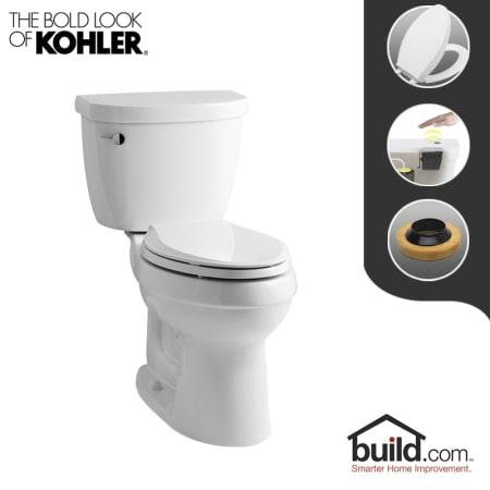 Kohler K 3609 0 Touchless White Cimarron 1 28 Gpf Two