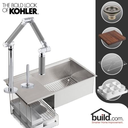 Kohler K 3760 K 6227 C11 Cp Polished Chrome Faucet Stages