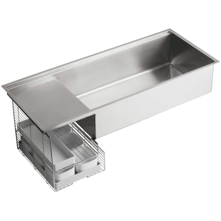 Kohler K 3761 Na Stainless Steel Stages 45 Quot Single Basin