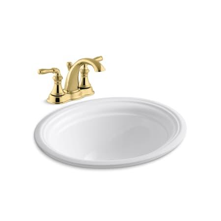 Kohler K 393 N4 K 2350 Pb Vibrant Polished Brass Devonshire 16 7 8