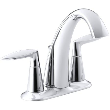 Kohler K 45100 4 Cp Polished Chrome Alteo Centerset Bathroom Faucet Free Metal Pop Up Drain