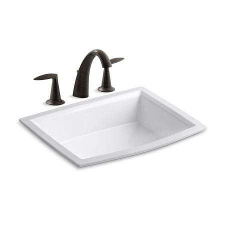 Kohler k 45102 4 k 2355 2bz oil rubbed bronze 2bz archer 17 5 8 undermount bathroom sink with for Kohler alteo widespread bathroom faucet