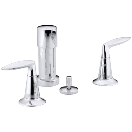 Kohler K 45135 4 Cp Polished Chrome Alteo Double Handle Widespread