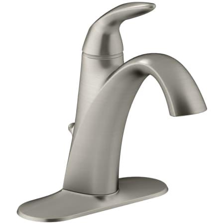 Kohler K 45800 4 Bn Vibrant Brushed Nickel Alteo Single Hole Bathroom Faucet With Pop Up Drain