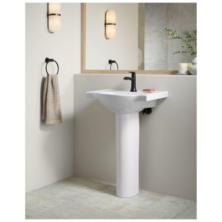 Kohler K 5248 1 0 White Veer 24 Quot Pedestal Bathroom Sink