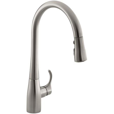 Kohler K 596 Vs Vibrant Stainless Simplice Single Hole Kitchen Sink