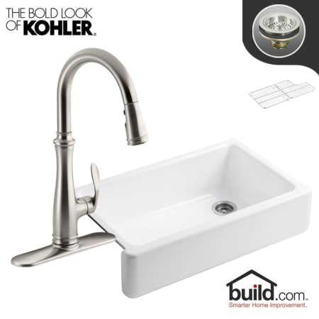 Kohler K 6489 K 560 Vs Vibrant Stainless Faucet Whitehaven