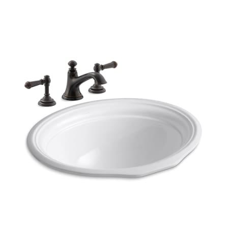 Kohler K 72759 4 K 2336 2bf Oil Rubbed Bronze Devonshire 18 1 8 Quot Undermount Bathroom