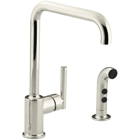Kohler K 7508 Sn Vibrant Polished Nickel Purist High Arch Kitchen