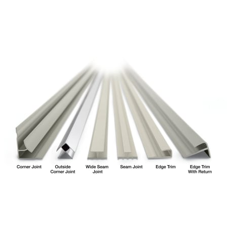 Kohler K 90037 0 White Choreograph 72 Shower Wall Wide Seam Joint Set Of 2 Faucet Com