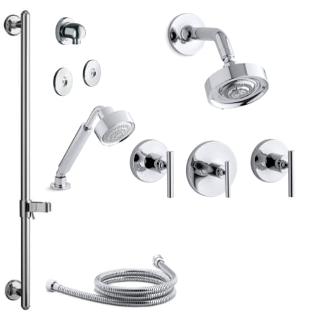 Kohler K Purist Ms21s 4 Cp Polished Chrome Purist Thermostatic