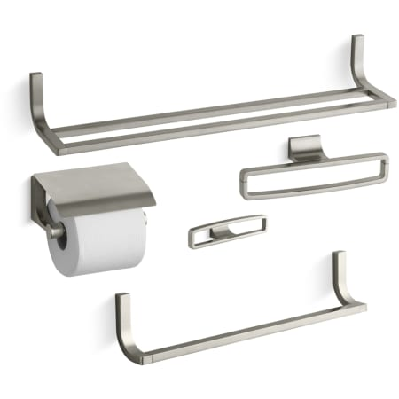 Kohler Loure Best Accessory Pack Bn Brushed Nickel 24 Double Towel