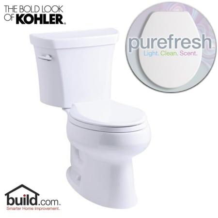 Kohler Purefresh K 3998 White Wellworth 1 28 Gpf Elongated