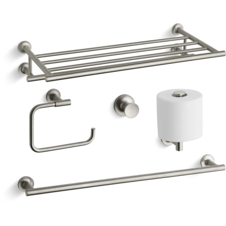 Kohler Purist Best Accessory PackBN Brushed Nickel Purist Towel - Kohler bathroom accessories chrome