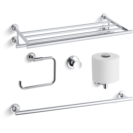 A Large Image Of The Kohler Purist Best Accessory Pack Polished Chrome