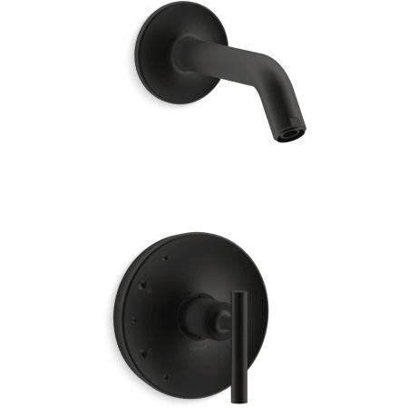 Kohler K Tls14422 4 Bl Matte Black Purist Pressure Balanced Valve