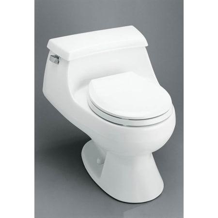Kohler K 3386 0 White Rialto One Piece Round Front Toilet