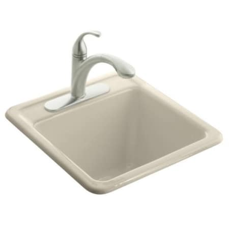 cast iron kitchen sinks top mount overmount large image of the kohler k66553 almond k66553g9 sandbar park falls 21