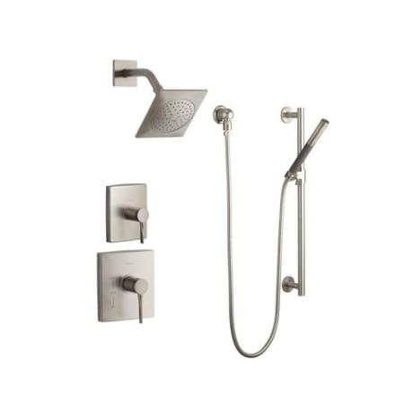 Kohler k stance shwr bndl hs bn vibrant brushed nickel kohler stance complete pressure balanced for Kohler hands free bathroom faucet