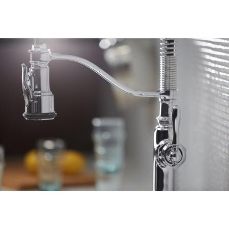Kohler K 77515 Vs Vibrant Stainless Tournant Pullout Spray