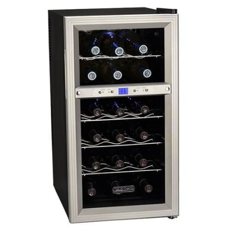 Koldfront 18 Bottle Dual Zone Thermoelectric Wine Cooler Twr181es