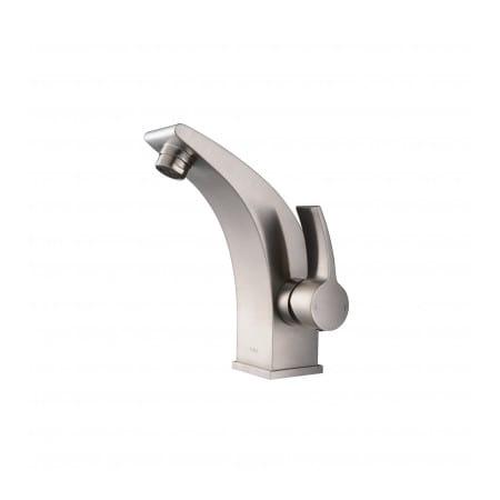 Kraus KEF-14701BN Brushed Nickel Illusio Single Hole Bathroom Faucet ...