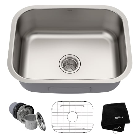 kraus kbu12 click to zoom stainless steel - Stainless Steel Kitchen Sinks