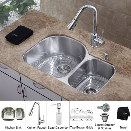 Kitchen Combo Collection. Kraus Logo. Kraus KBU21 KPF1650 KSD30