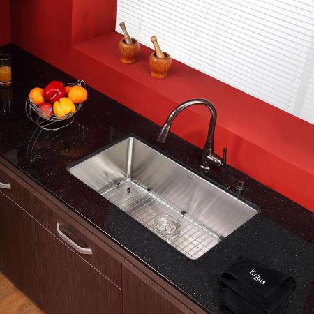 Kraus Khu100 30 Kpf2230 Ksd30ch Chrome Kitchen Combo 30