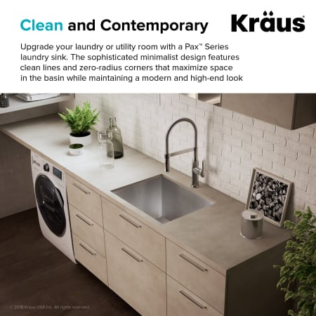 Kraus Khu24l Stainless Steel Pax 24 Quot Single Basin 18 Gauge