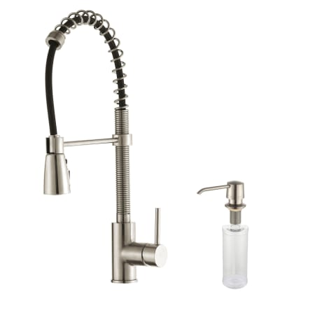Kraus Kpf 1612 Ksd 30ss Stainless Steel Commercial Style Pre Rinse Kitchen Faucet With Soap