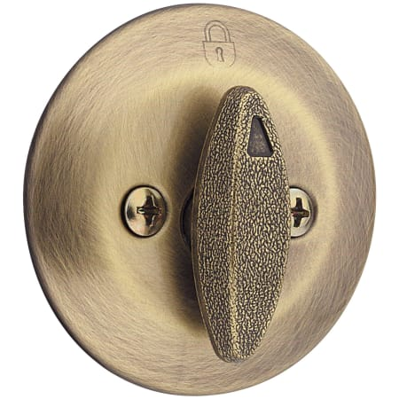 Kwikset 667 5v1 Antique Brass One Sided Deadbolt With Back