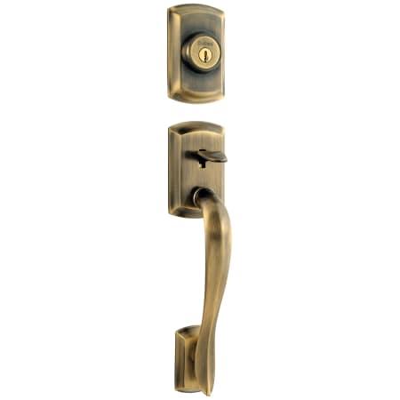 Kwikset 800avhlip 5s Antique Brass Avalon Single Cylinder
